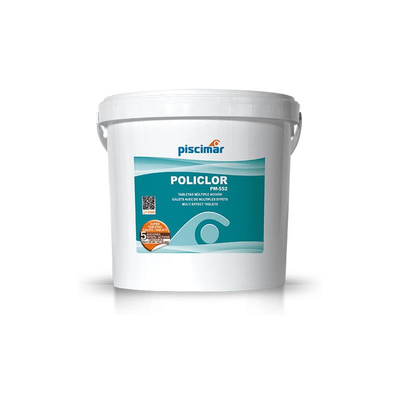POLICLOR 5kg. PM 552 Tabletas de Cloro